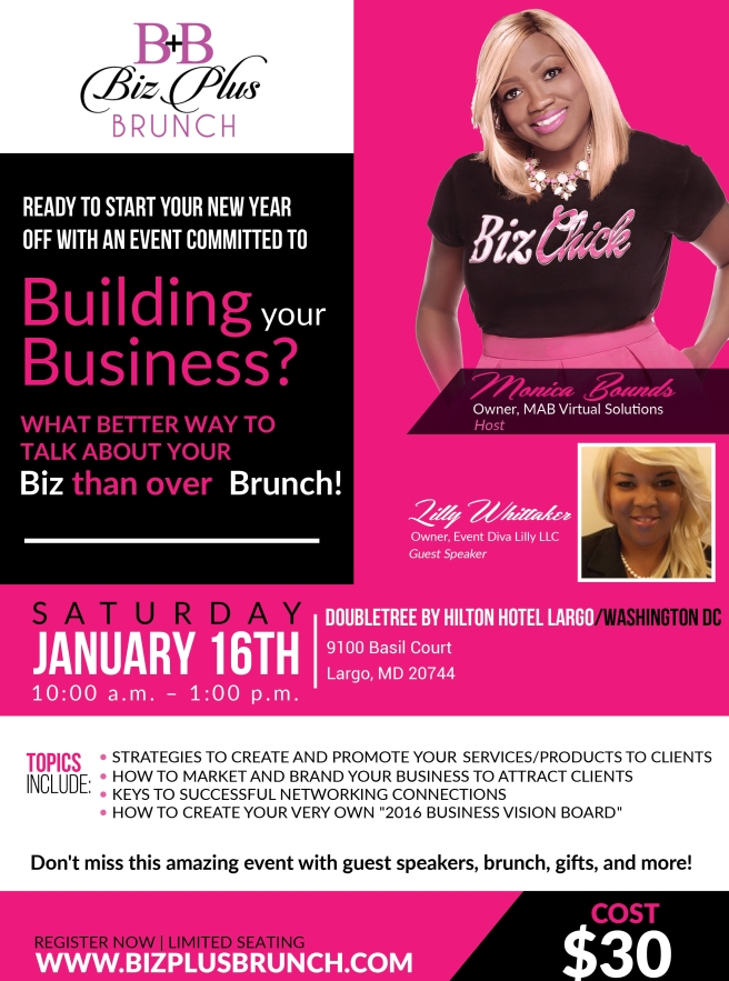 Biz Plus Brunch Flyer